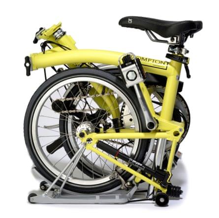 folded Brompton bike