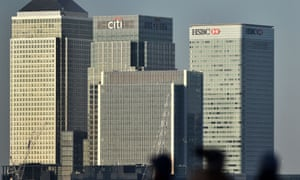 The UK headquarters of HSBC in London's Canary Wharf.
