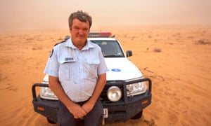 Neale McShane is handing in his badge after 40 years in the service – almost 10 of them as the senior constable patrolling the vast desert plains and dirt roads around Birdsville