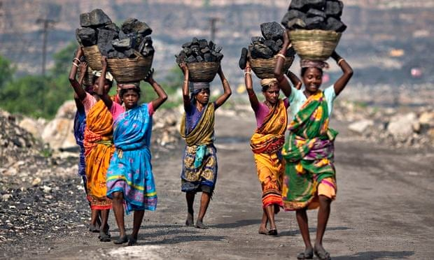 Local women carrying coal in Jharkhand