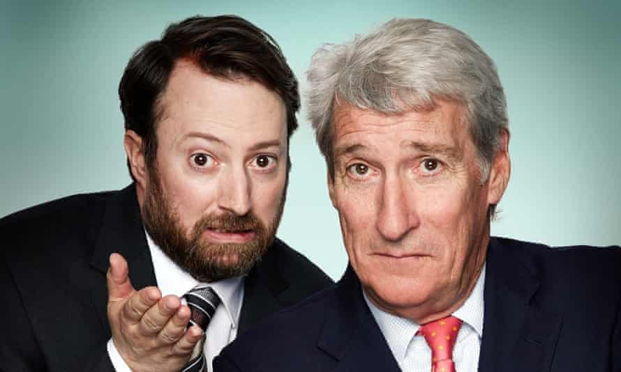 David Mitchell and veteran BBC interrogator Jeremy Paxman, who will be hosting Channel 4's Alternative Election Night on 7 May.