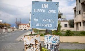 United Nations buffer zone in central Nicosia