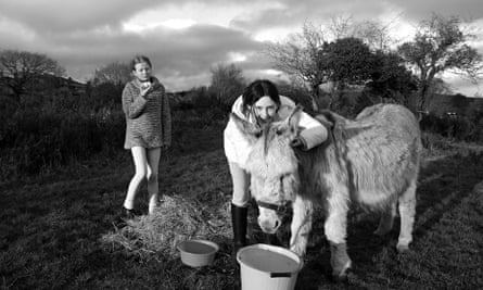 Snapshot: Molly Davies, right, and her friend Maeve with Mildred the donkey in 2005
