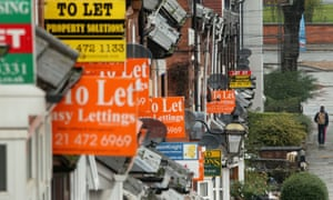 'To let' signs in Birmingham. As well as promising rent controls and tougher rules on landlords, Miliband is adding to his package on housing by pledging to build more homes.