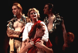Jo Stone-Fewings, Joanne Pearce, Damian Lewis  and Richard Cant in Cymbeline at the Barbican in 1998.