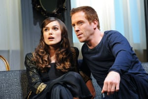 Keira Knightley (Jennifer) and Damian Lewis (Alceste) in The Misanthrope at the Comedy theatre in 2009.