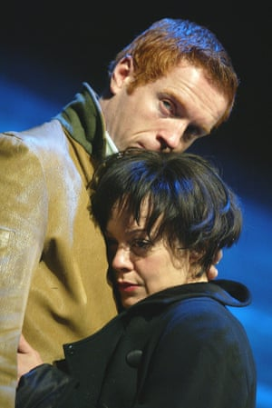 Damian Lewis and Helen McCrory in Five Gold Rings at the Almeida in 2003.