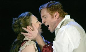 Lesley Manville and Damian Lewis in Pillars of the Community at the Lyttelton in 2005.