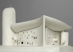 A model of Corbusier's Chapelle Notre-Dame-du-Haut, Ronchamp, 1955
