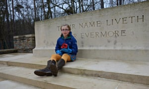 Camilla Palmer's daughter Nell, at the cemetery