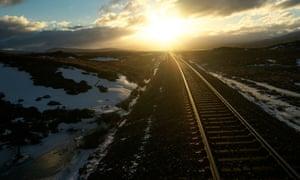 Sunrise over the West Highland Line.