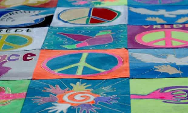 The home-made Peace Carpet, WILPF's gift to the Peace Palace in The Hague