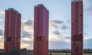 High-rises in Glasgow ready for demolition.