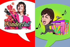 Two of Paul McCartney's new sound stickers.