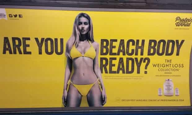 Protein World 'beach body ready' poster: the advertising watchdog received nearly 400 complaints.