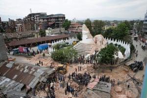The landmark tower collapsed
