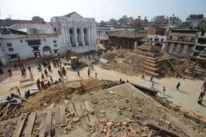Earthquake damaged Durbar Square