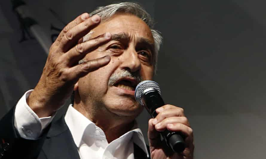 Mustafa Akinci after his election victory on Sunday