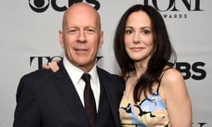 Bruce Willis and Mary-Louise Parker at the 2015 Tony awards nominations announcement.