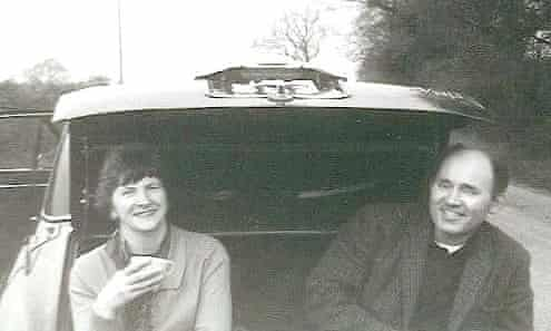My grandparents on way to Derbyshire in the 60s.