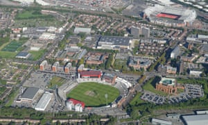 Next door to Trafford Park, the famous sporting arenas of Old Trafford.