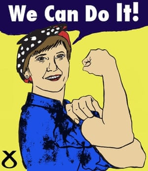 The Leader of the SNP, Nicola Sturgeon. Nancy Wallace, BA(Hons) Illustration, Duncan of Jordanstone College of Art and Design, Dundee