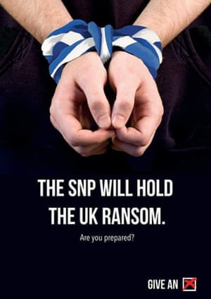 The SNP will hold the UK ransom. Megan Chown, graphic & communication design, University of Leeds