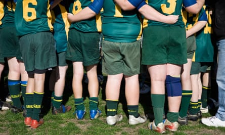 Sports field huddle