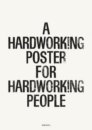Hardworking Poster Laura Gordon, visual communication, Royal College of Art