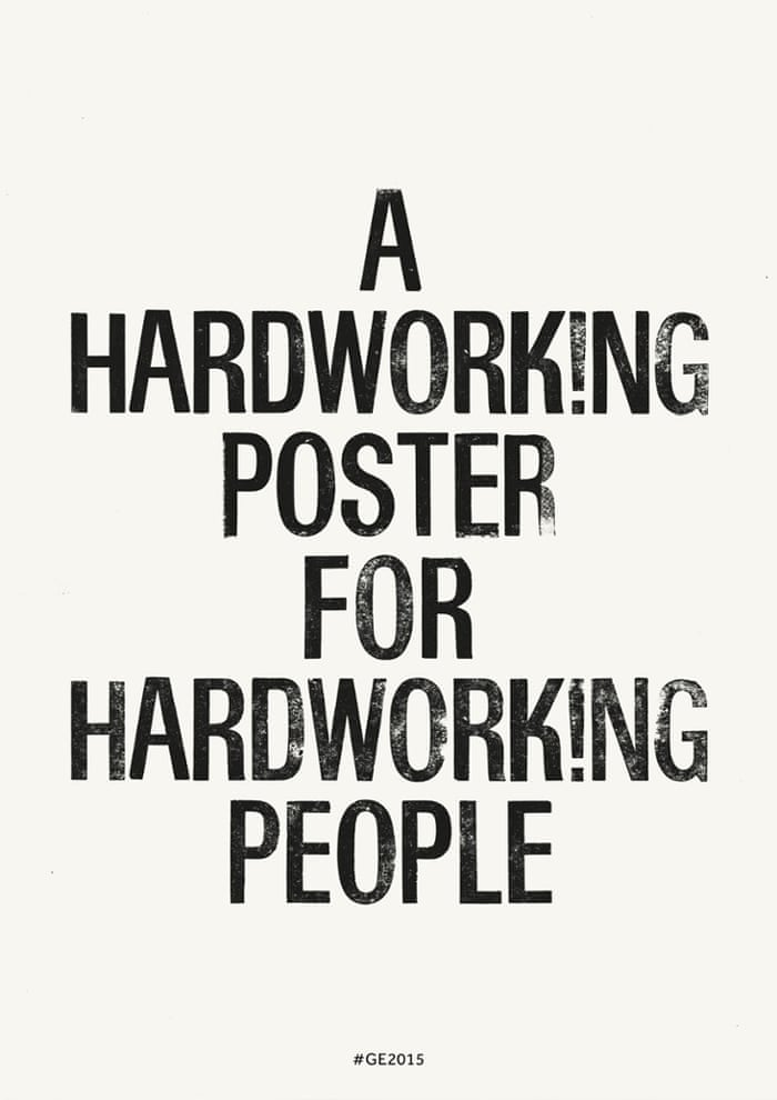 Hardworking Poster Laura Gordon, visual communication, Royal College of Art