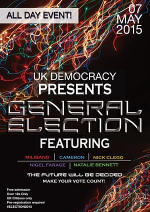 Election Event Poster Helen Taranowski, design for visual communication, London College Of Communication, University of the Arts