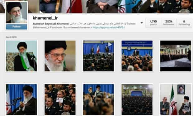 The Instagram account of Iran's supreme leader, Ayatollah Ali Khamenei.