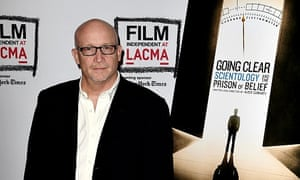 Producer Alex Gibney has been accused by the church of trading in lies.