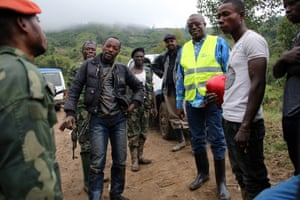 31 March 2015 Map, DR Congo .  FARDC Sergeant Jacques Chingmuta and his colleagues are headed towards Numbi too, on motorbikes.drcsusan