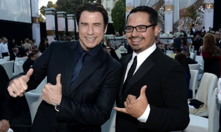John Travolta (pictured with actor Michael Pena) has not watched the film.