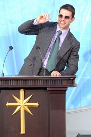 Tom Cruise at the official opening of a Scientology church in Madrid, 2004.