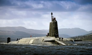 HMS Vigilant, one of four Vanguard-class submarines form the UK's strategic nuclear deterrent force, returns to the Clyde after an extended deployment.