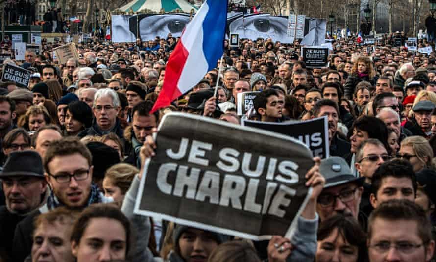 Paris Charlie Hebdo rally