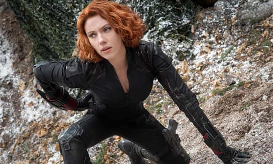 Scarlett Johansson as Black Widow in The Avengers: Age of Ultron
