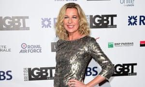 Katie Hopkins arriving at the British LGBT Awards at the Landmark Hotel, London