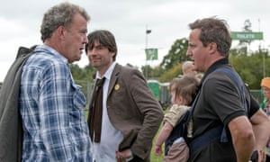 David Cameron with Jeremy Clarkson and Alex James in 2011.
