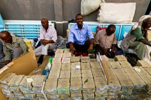 Money Traders in Hargeisa, Somaliland