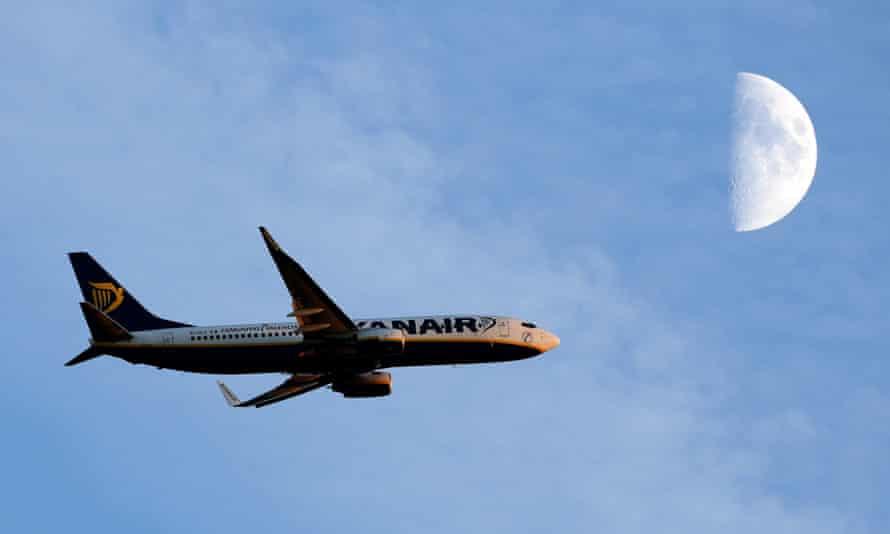 Ryanair plane.