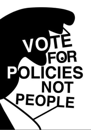 Vote for Policies, by Harriet Bishop, BA graphic design, Camberwell College of Arts