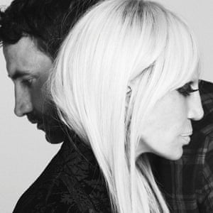 Donatella Versace in the new campaign for Givenchy