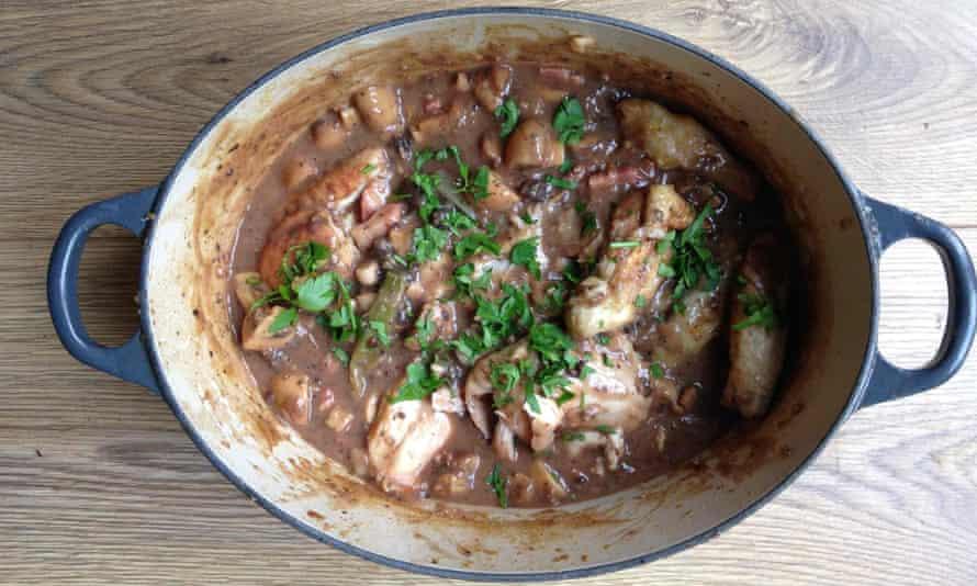 Michel Roux's coq au riesling