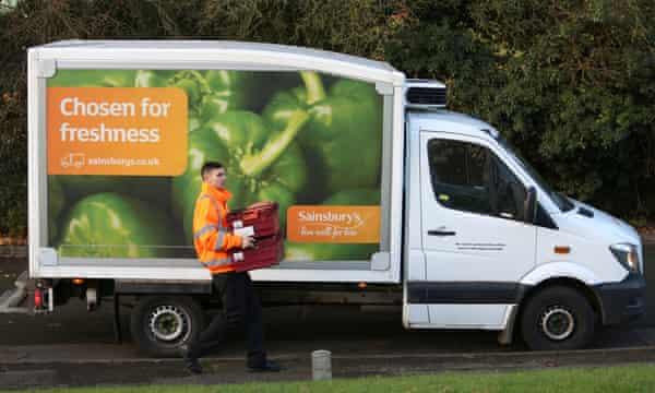 Sainsbury's delivery van