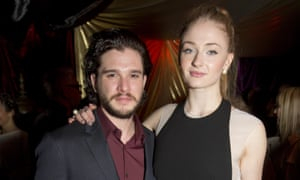 Kit Harington with Sophie Turner, his sister in Game of Thrones.