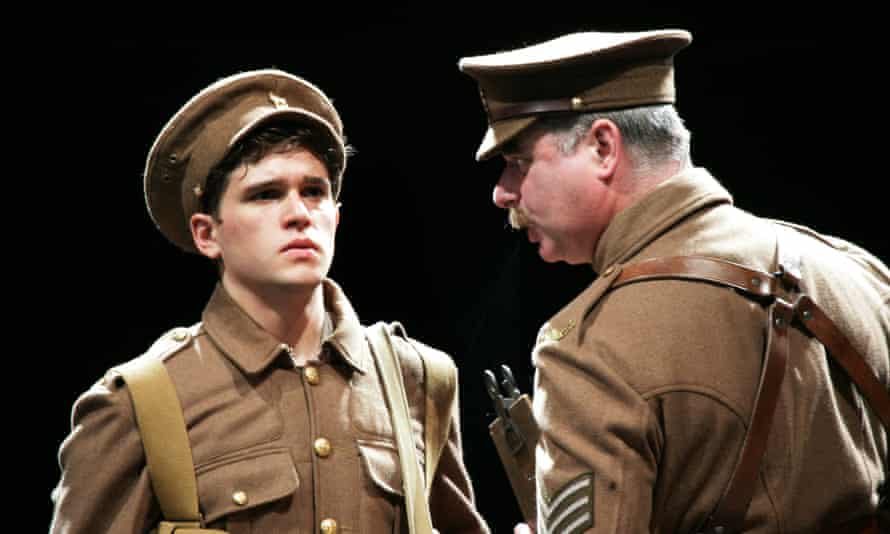 As Albert Narracott with Howard Ward (playing Sergeant Thunder) in War Horse at the National Theatre.