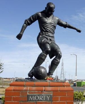 Blackpool's Stan Mortensen statue, pictured in June 2010.